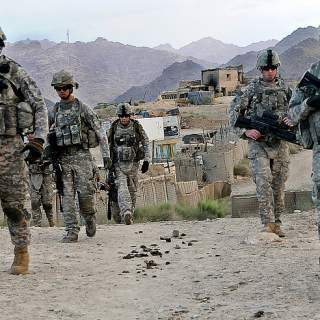 American soldiers 320x320 - Suicide bombing on 9/11 anniversary wounds 5 US troops in Afghanistan