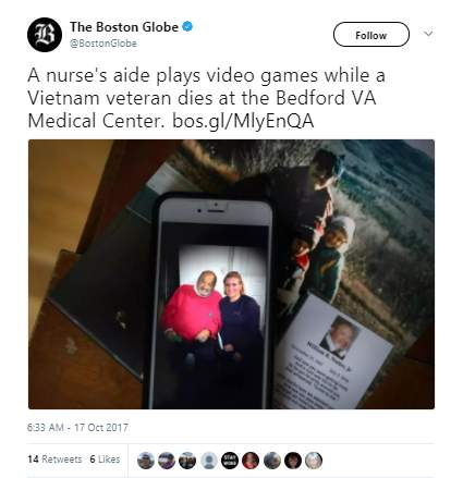 Bill Nutte - Vietnam vet died at VA hospital while nurse's aide played video games on computer