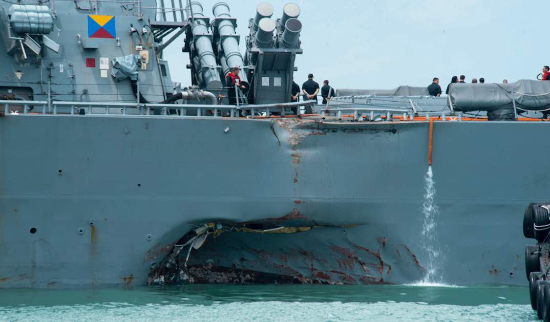 10 US Navy sailors still missing after USS John S. McCain collides with oil tanker Featured
