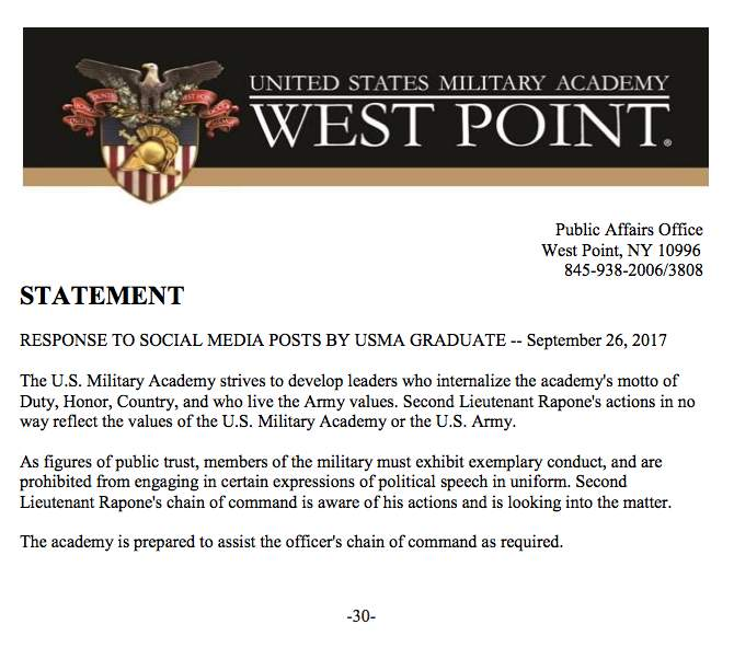 Screen Shot 2017 09 26 at 10.04.11 PM - Report: West Point professor Rasheed Hosein who mentored 'socialist organizer' Army officer placed on admin. leave