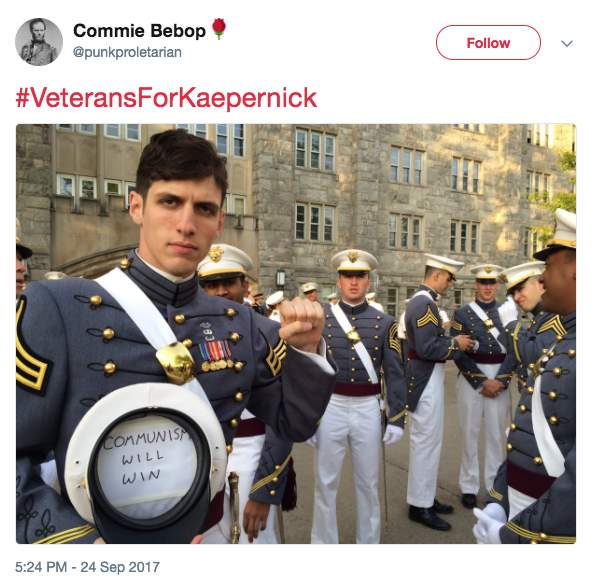 Screen Shot 2017 09 26 at 8.36.01 AM - West Point grad Army officer is 'official Socialist organizer' who spreads Communist propaganda relentlessly