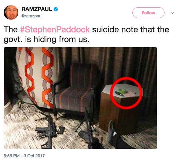 Screen Shot 2017 10 04 at 10.02.45 AM - Leaked photos have internet buzzing: Did Vegas shooter leave suicide note?