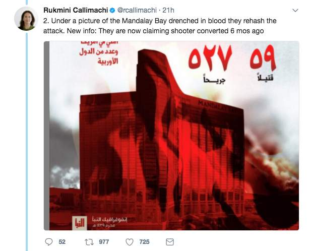 Screen Shot 2017 10 06 at 10.41.53 AM - ISIS is still claiming the Las Vegas shooting, and made a more specific claim about the gunman