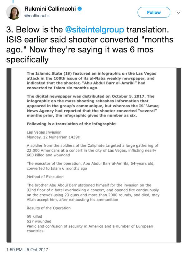 Screen Shot 2017 10 06 at 10.42.04 AM - ISIS is still claiming the Las Vegas shooting, and made a more specific claim about the gunman