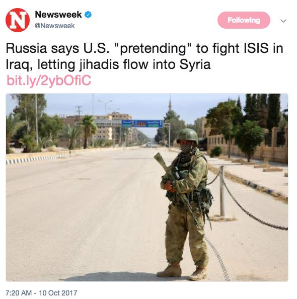 Screen Shot 2017 10 10 at 10.59.15 AM - Russia claims US 'pretends' to fight ISIS in Iraq and Syria