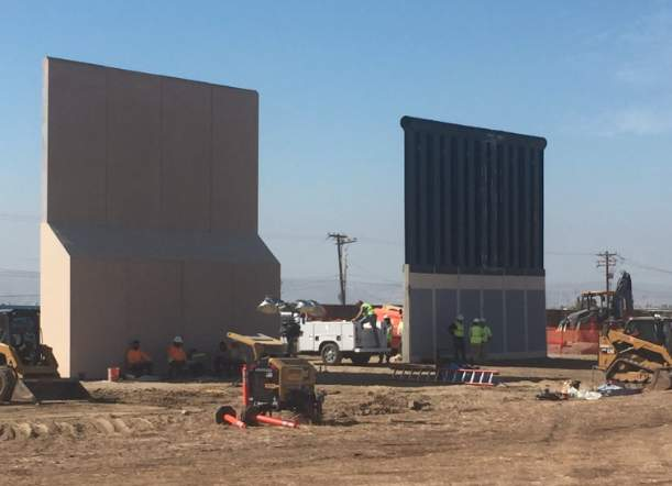 Several prototypes of Trump's Mexico border wall are nearly complete – see what they look like Featured