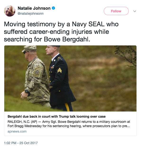 Screen Shot 2017 10 25 at 1.31.01 PM - Former Navy SEAL who searched for Bergdahl just testified, reveals info