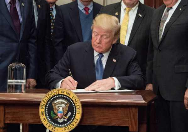 President Donald Trump on Tuesday signed the National Defense Authorization Act (NDAA), which will give the U.S. Military its largest pay raise in seven years.