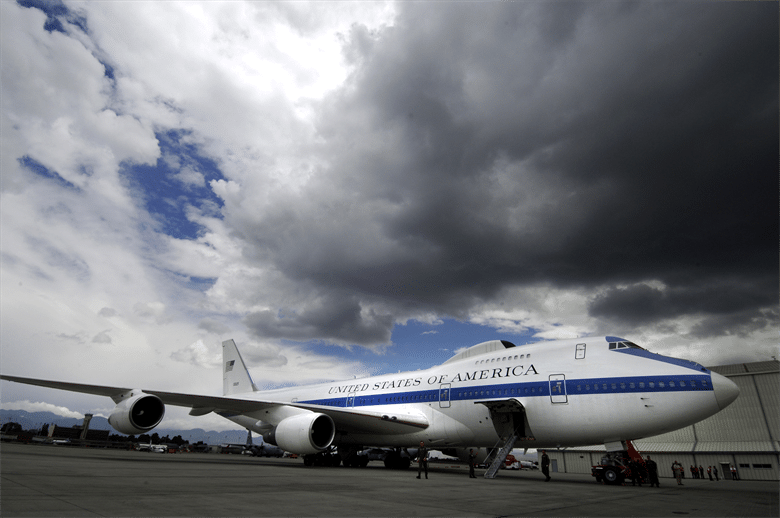 The Air Force's 'Doomsday Plane' is in the shop