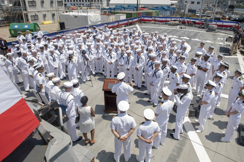 PHOTOS: Navy honors 50 USS John S. McCain sailors who saved ship after deadly collision in 2017