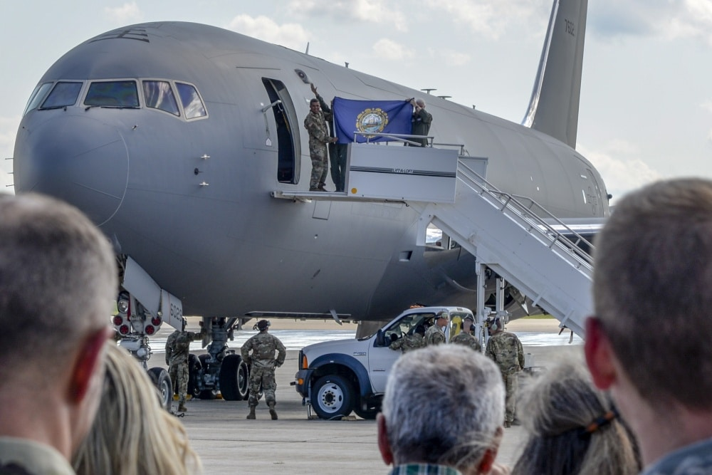VIDEO: First KC-46A tanker arrives at Pease Air National Guard base