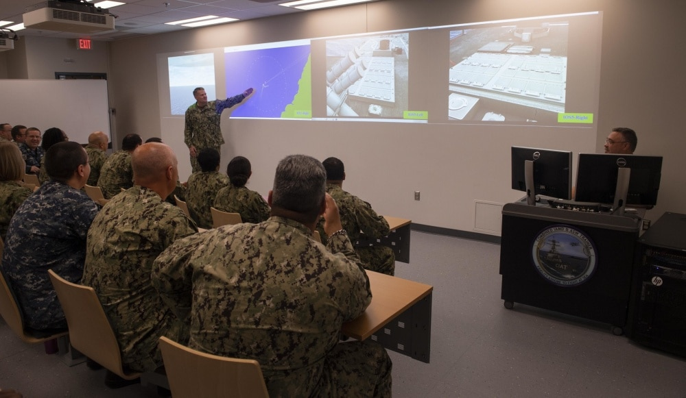 Navy's new surface warfare trainer more realistic than training on ships