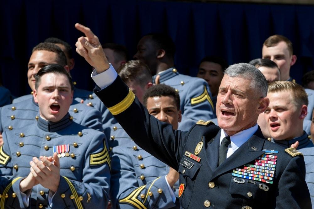Former West Point head Gen. Robert Caslen killed a deer with his bare hands