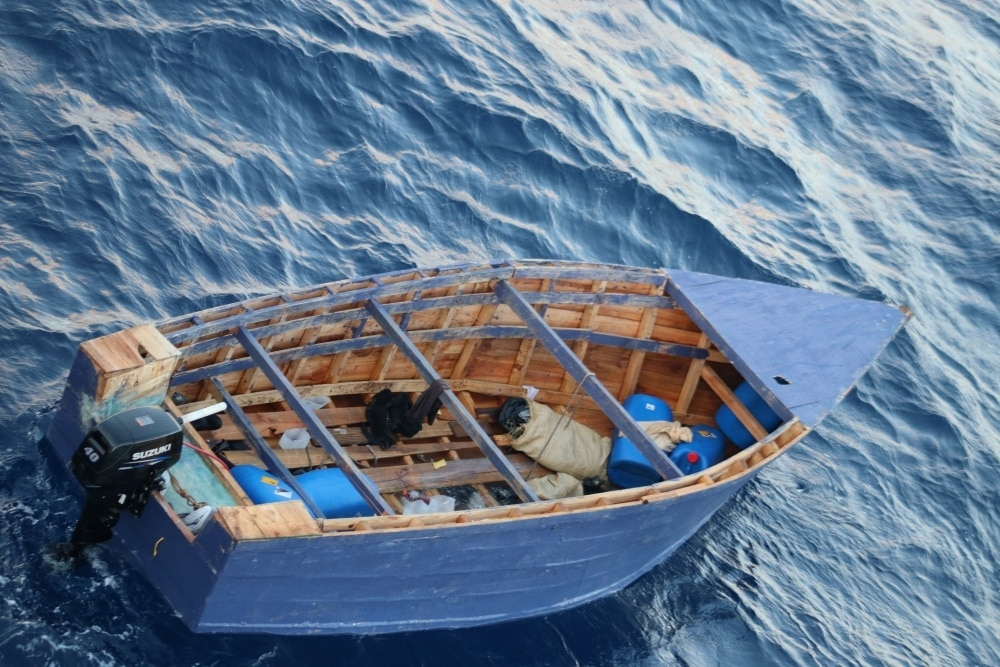 Coast Guard finds 26 migrants on a leaky homemade boat