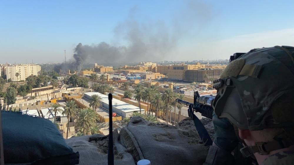 Rockets hit near base hosting US forces in Baghdad