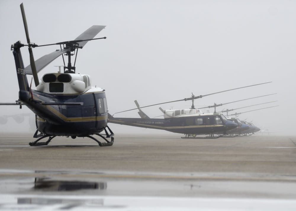 US Air Force helicopter shot at in Virginia and forced to make emergency landing