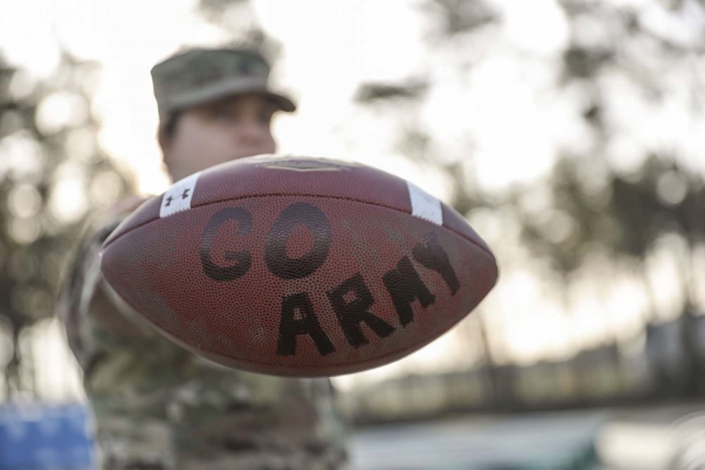 Video: Army soldiers crush Navy football helmet with tank and deliver it to ESPN