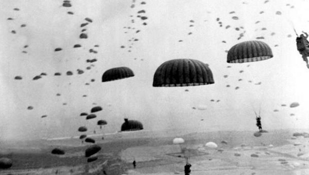 D-Day: Paratroopers From 101st Airborne Division Jump Into France Featured