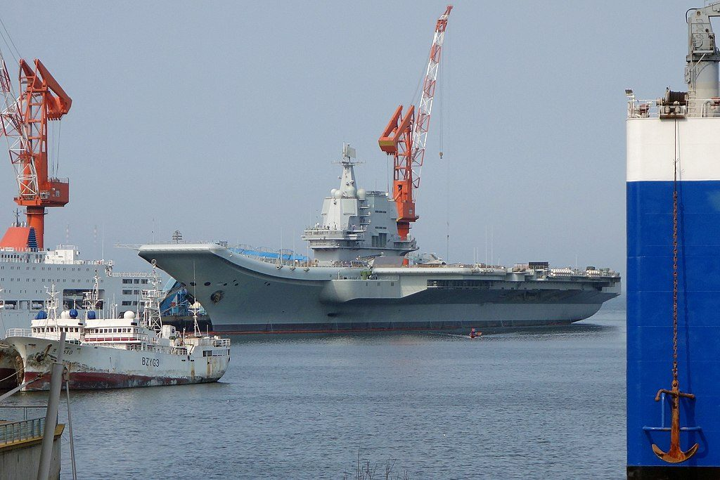 China sends its first domestically built aircraft carrier through Taiwan Strait