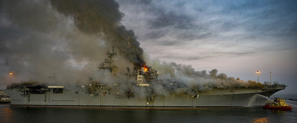 Smoke from Navy ship fire in San Diego contained toxic chemicals