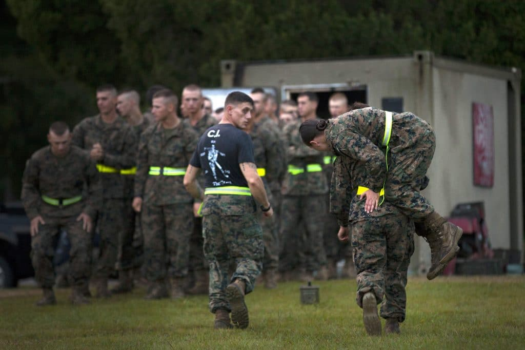 Mixed-gender Marines at boot camp and base construction included in $738 billion defense budget