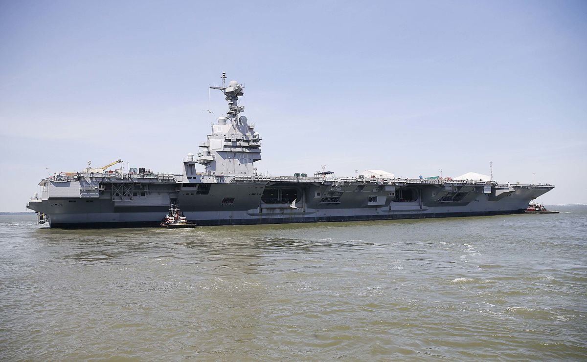 1200px USS Gerald R. Ford CVN 78 on the James River on 11 June 2016 - See Why The USS Gerald R. Ford Fully Takes The Nuclear Supercarrier Into The 21st Century