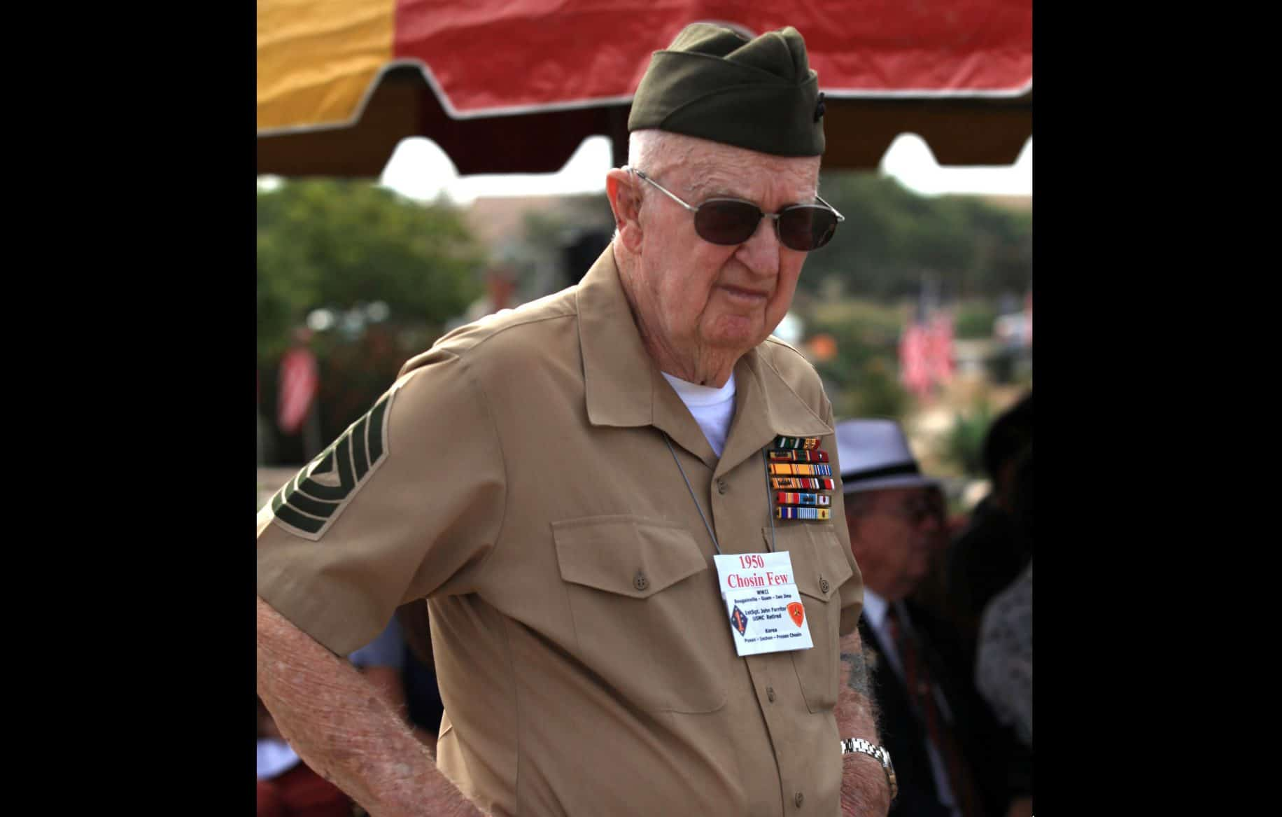 At 100, WWII and Korean War veteran honored for his place in Marine Corps history