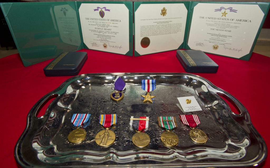 Vet receives World War II medals 73 years after leaving the Navy