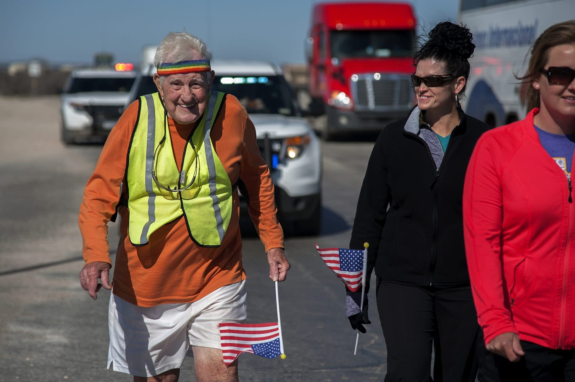 95-year-old WWII vet is walking cross country for 2nd time