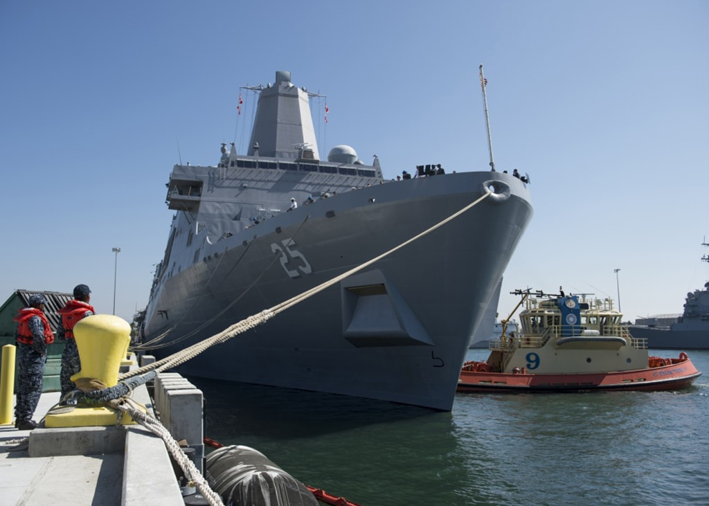 USS Somerset part of rescue during amphibious vehicle accident near California island