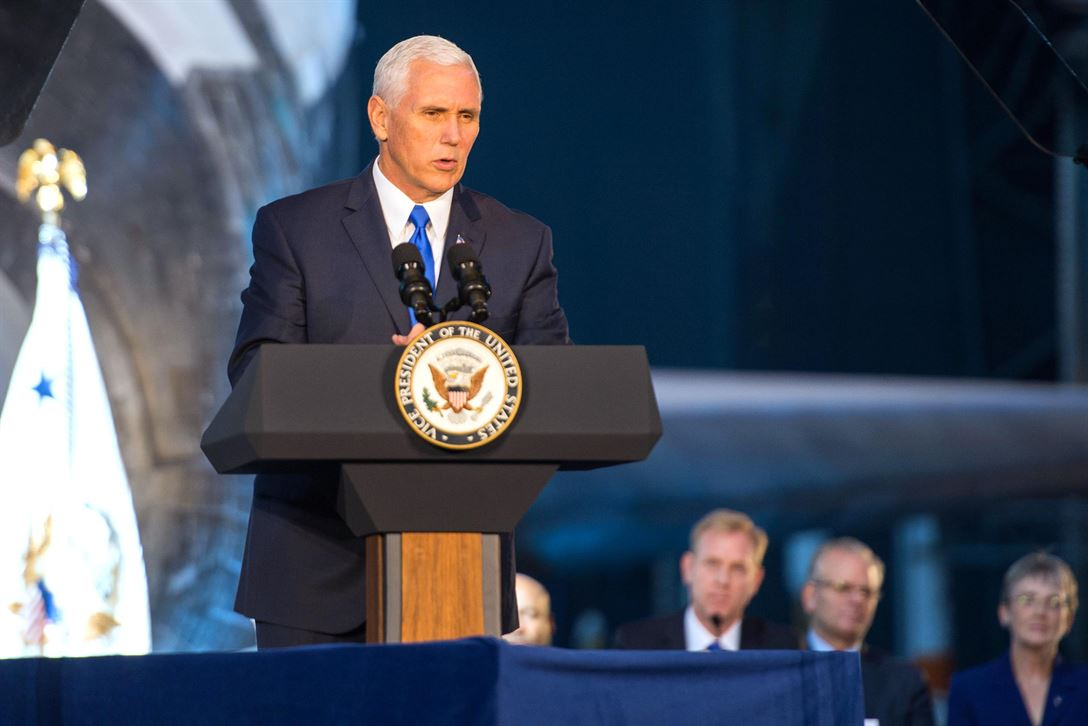 Pence calls for Space Force during visit to Vandenberg AFB