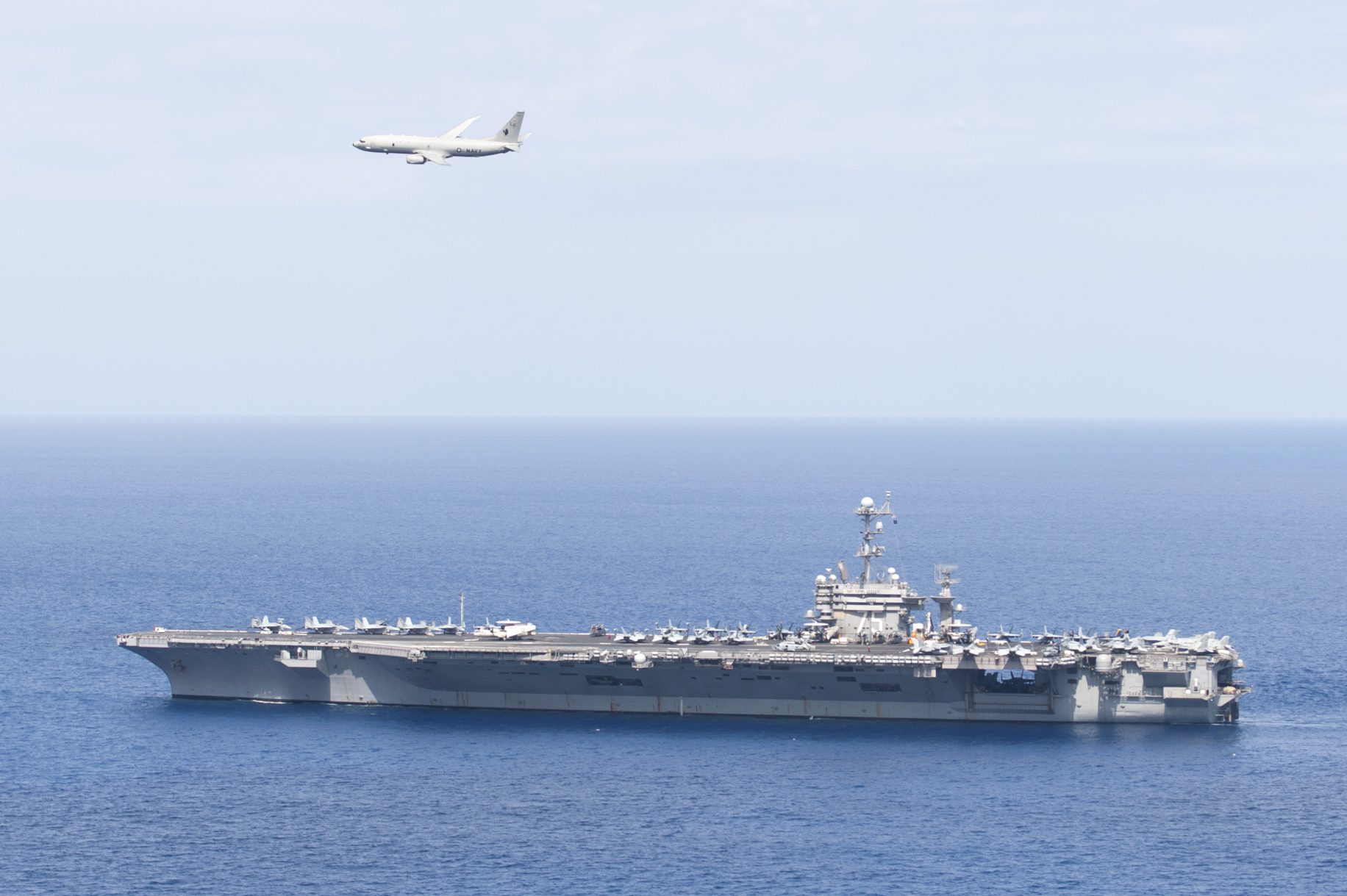 Chinese Navy destroyer shoots laser at US Navy plane, says US