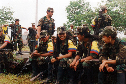 Female FARC soldiers