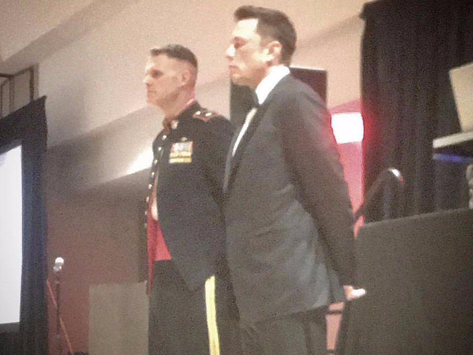 Elon Musk made a secret appearance to elite US Marines and gave a stirring speech Featured