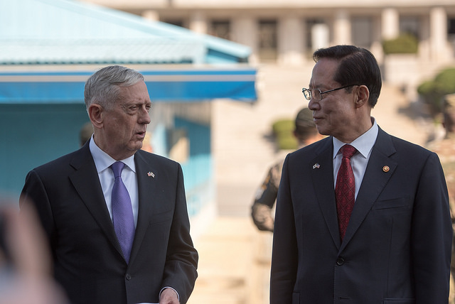 24112653328 43f718a991 z - Watch Mattis make remarks at Korean DMZ following North Korean Hydrogen bomb test warning
