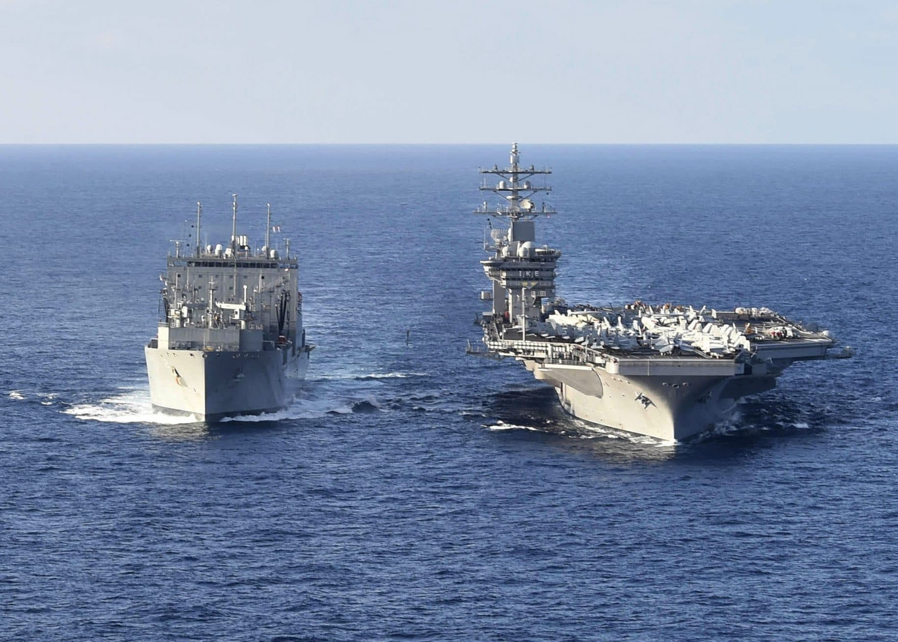 USS Dwight D. Eisenhower carrier strike group deploys without stopping at home first
