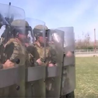 2nd Battalion 1st Marines Riot Control Training