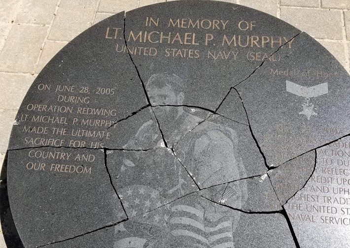 Teen Vandal Destroys Memorial Of Fallen Navy Seal Lt