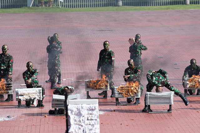 38971183055 978e0baa50 z - (PHOTOS) Mattis gets live snake send-off with fire and brick-smashing in Indonesia