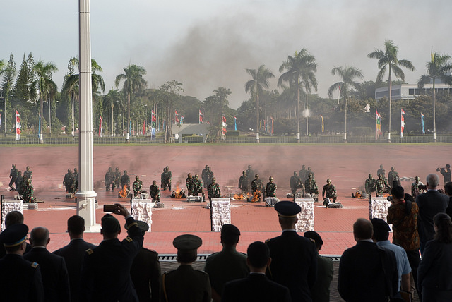 39837893422 22775ea5d3 z - (PHOTOS) Mattis gets live snake send-off with fire and brick-smashing in Indonesia