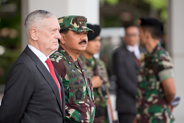 39870733731 828a8867f6 z - (PHOTOS) Mattis gets live snake send-off with fire and brick-smashing in Indonesia