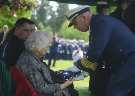 WWII Coast Guard Vet & Navy Cross Recipient Is Laid To Rest Featured