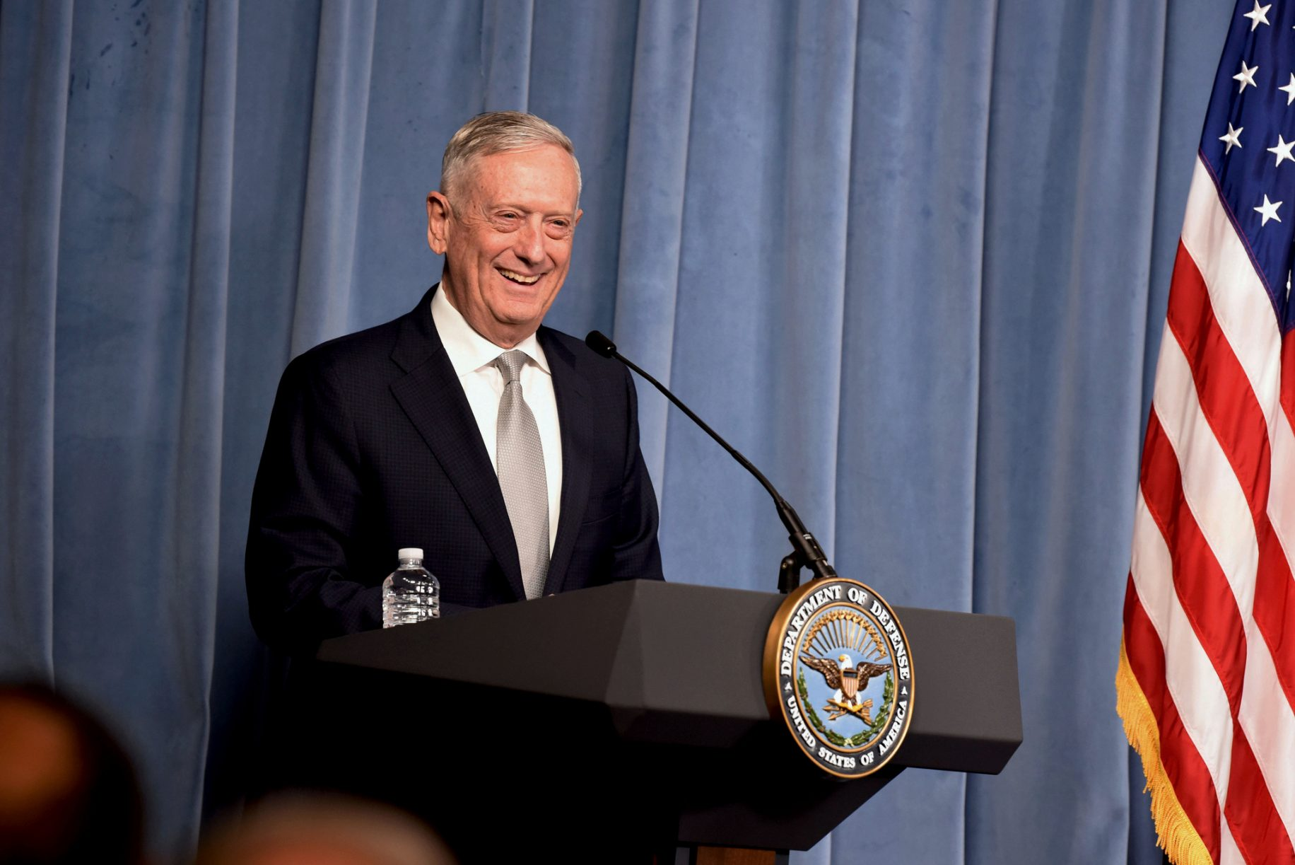 Mattis is back exactly where he left from before being secretary of defense