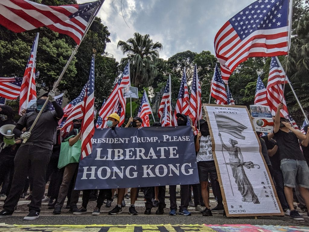 Tens of thousands rally in Hong Kong to ask US for political sanctions