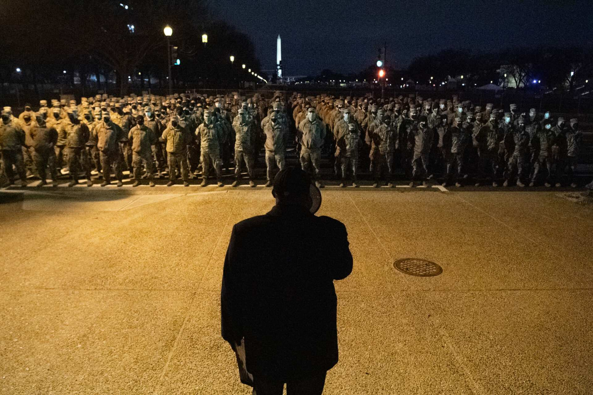 Pics: US Marshals deputize 2,000 troops for Biden inauguration in front of Washington Monument