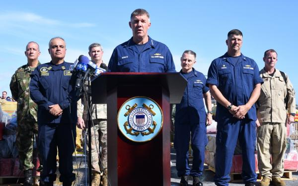 VIDEO/PICS: US Coast Guard offloads nearly $380 million worth of cocaine and marijuana in Florida