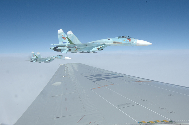 6034628999 4f6d8ae3cb z 1 - Russian Fighter Jet Flies 20 Feet From U.S. Navy Aircraft For 'Five Minutes'