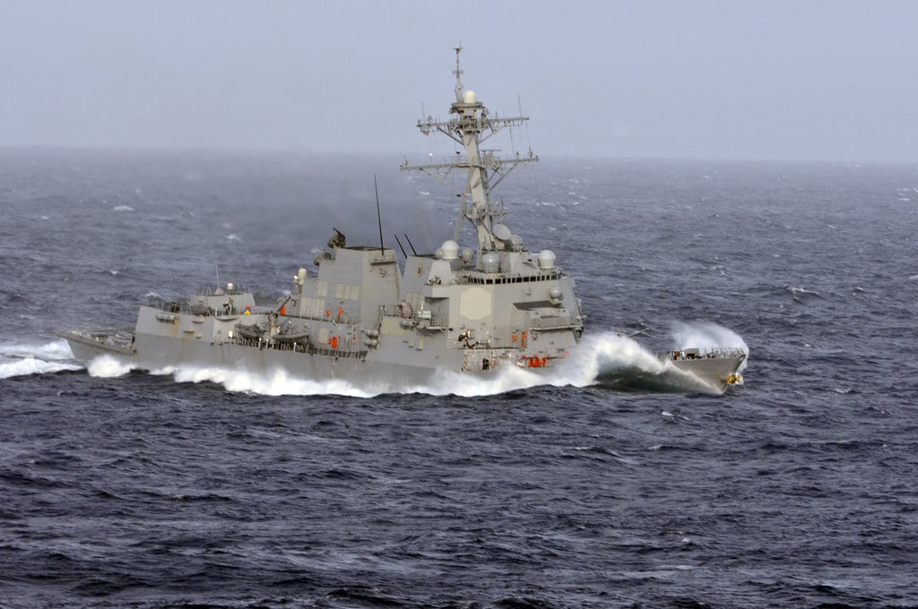 US warship conducts freedom of navigation operation in disputed South China Sea