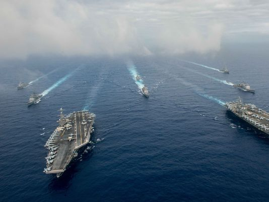 "636019346197151449 GettyImages 541065846 - Two U.S. Aircraft Carriers Near South China Sea Prompts ""Harsh Criticism"" From Chinese Newspapers"