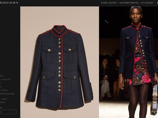 Global Fashion Brand Burberry Unveils New U.S. Marine Inspired Military Style Jacket Featured